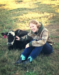 Picture of dolly the calf and crazy cow lady